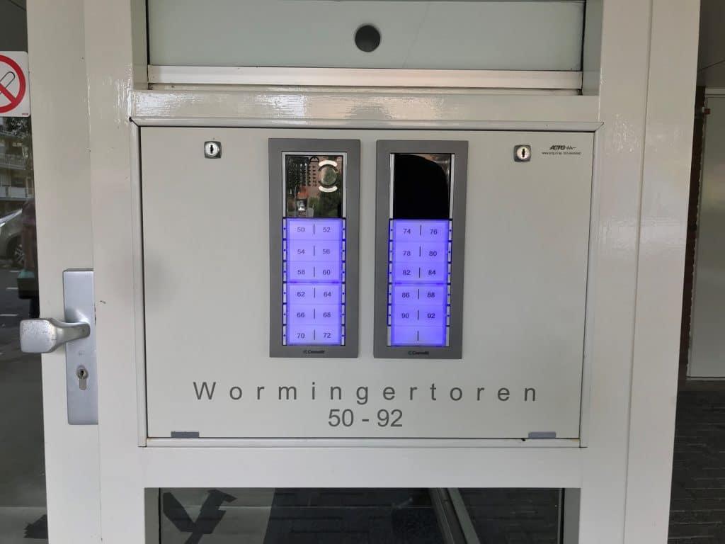 Intercom systeem met gegraveerde plaat